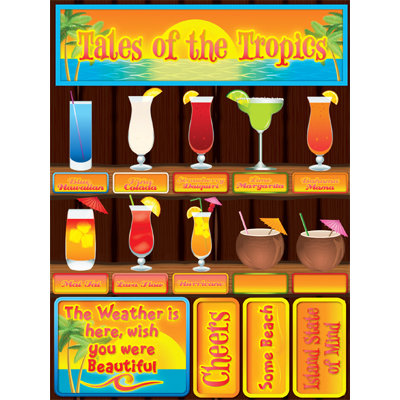Reminisce Signature Series 3 Dimensional Die Cut Stickers Tales of the Tropics