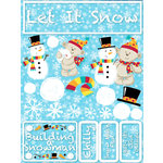 Reminisce - Signature Series Collection - 3 Dimensional Die Cut Stickers - Let it Snow
