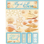 Reminisce - Signature Series Collection - 3 Dimensional Die Cut Stickers - By the Sea