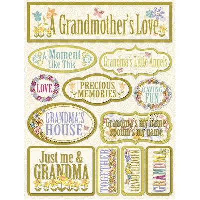 Reminisce - Signature Series Collection - 3 Dimensional Die Cut Stickers - Grandma