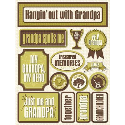 Reminisce - Signature Series Collection - 3 Dimensional Die Cut Stickers - Grandpa