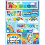 Reminisce - Signature Series Collection - 3 Dimensional Die Cut Stickers - Rainbow