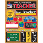 Reminisce - Signature Series Collection - 3 Dimensional Die Cut Stickers - World's Greatest Teacher