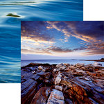 Reminisce - Rocky Shores Collection - 12 x 12 Double Sided Paper - Shattered Sea