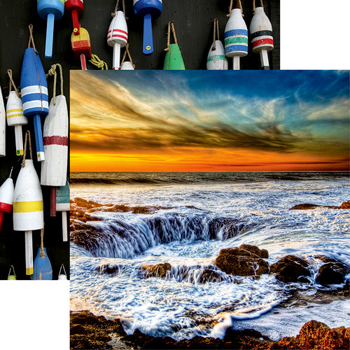 Reminisce - Rocky Shores Collection - 12 x 12 Double Sided Paper - Thor's Well