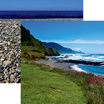 Reminisce - Rocky Shores Collection - 12 x 12 Double Sided Paper - Surf's Up