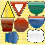 Reminisce - Road Signs Collection - 12 x 12 Cardstock Stickers - Journal Signs, CLEARANCE
