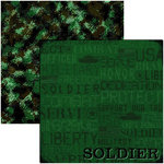 Reminisce - Military Collection - 12x12 Double Sided Paper - Soldier