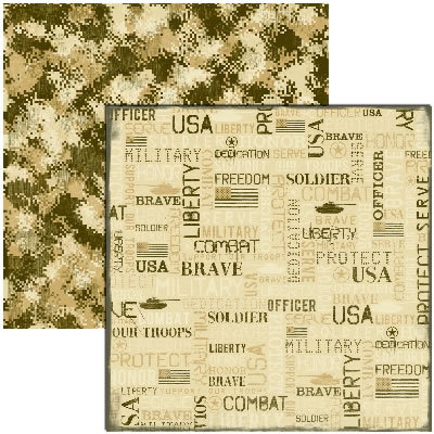 Reminisce - Military Collection - 12x12 Double Sided Paper - American Hero