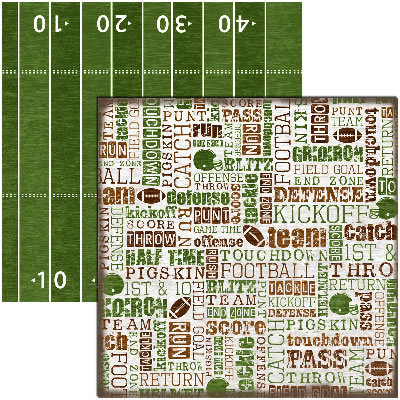 Reminisce - Football Collection - 12x12 Double Sided Paper - Touchdown