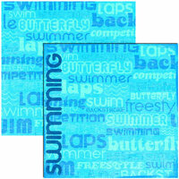 Reminisce - Swimming Collection - 12x12 Double Sided Paper - Swimming