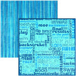 Reminisce - Swimming Collection - 12x12 Double Sided Paper - Freestyle