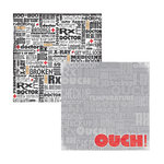 Reminisce - Ouch Collection - 12x12 Double Sided Paper - Ouch