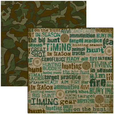 Reminisce - Hunting Collection - 12x12 Double Sided Paper - In Season