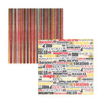 Reminisce - Dream Vacation Collection - 12x12 Double Sided Paper - Happily Ever After, CLEARANCE