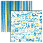 Reminisce - Pool Fun Collection - 12x12 Double Sided Paper - Pool Fun