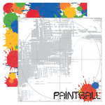 Reminisce - Signature Series Collection - 12 x 12 Double Sided Paper - Paintball