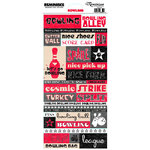 Reminisce - Bowling Collection - Cardstock Stickers - Bowling Quote