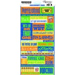 Reminisce - Amusement Park Collection - Cardstock Stickers - Amusement Park Quote