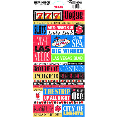 Reminisce - Vegas Collection - Cardstock Stickers - Vegas Quote