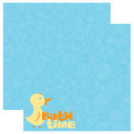 Reminisce - Signature Series Collection - 12 x 12 Double Sided Paper - Bath Time