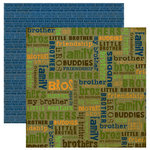 Reminisce - Signature Series Collection - 12 x 12 Double Sided Paper - Brothers