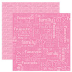 Reminisce - Signature Series Collection - 12 x 12 Double Sided Paper - Sisters