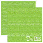 Reminisce - Signature Series Collection - 12 x 12 Double Sided Paper - Twins