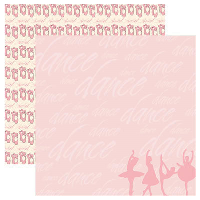 Reminisce - Signature Series Collection - 12 x 12 Double Sided Paper - Ballet