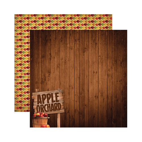 Reminisce - Signature Series Collection - 12 x 12 Double Sided Paper - Apple Orchard