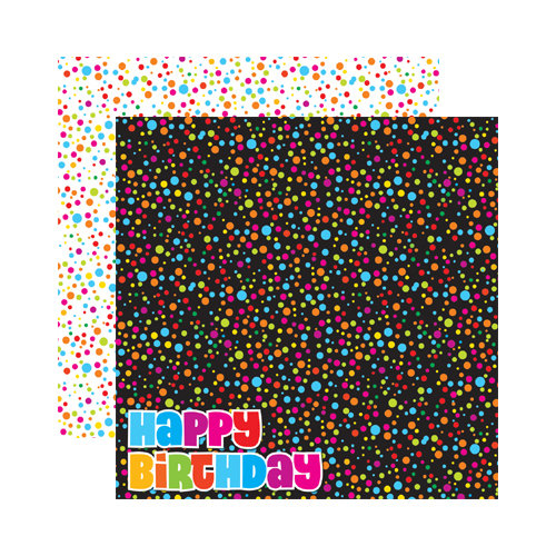 Reminisce - Signature Series Collection - 12 x 12 Double Sided Paper - Happy Birthday