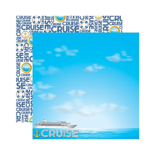Reminisce - Signature Series Collection - 12 x 12 Double Sided Paper - Cruise