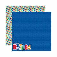 Reminisce - Signature Series Collection - 12 x 12 Double Sided Paper - Retirement
