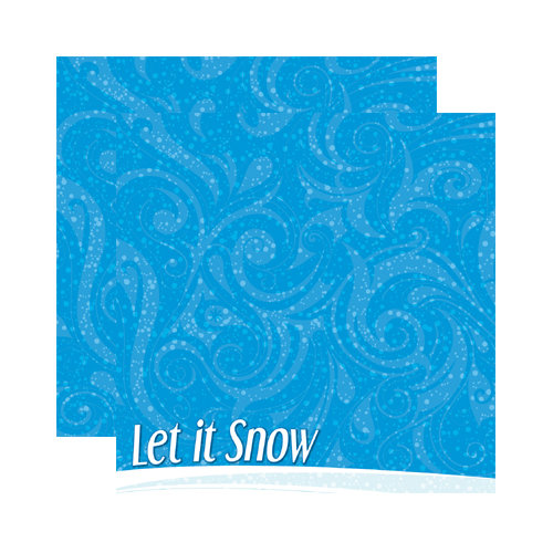 Reminisce - Signature Series Collection - 12 x 12 Double Sided Paper - Snowflakes