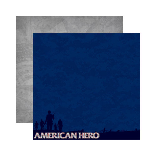 Reminisce - Signature Series Collection - 12 x 12 Double Sided Paper - American Hero