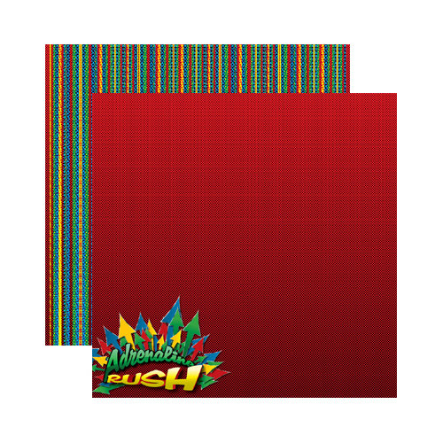 Reminisce - Signature Series Collection - 12 x 12 Double Sided Paper - Adrenaline Rush