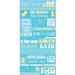 Reminisce - Signature Series Collection - Die Cut Cardstock Stickers - Bath Time