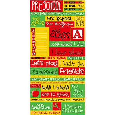 Reminisce - Signature Series Collection - Die Cut Cardstock Stickers - Preschool