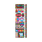Reminisce - Signature Series Collection - Cardstock Stickers - Combo - Happy Birthday
