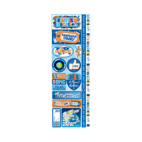 Reminisce - Signature Series Collection - Cardstock Stickers - Combo - Family Vacation