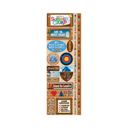 Reminisce - Signature Series Collection - Cardstock Stickers - Combo - Summer Camp