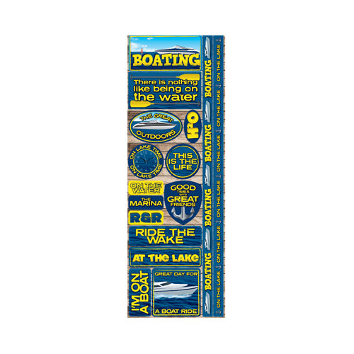 Reminisce - Signature Series Collection - Cardstock Stickers - Combo - Boating