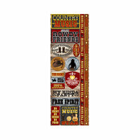 Reminisce - Signature Series Collection - Cardstock Stickers - Combo - Country Music