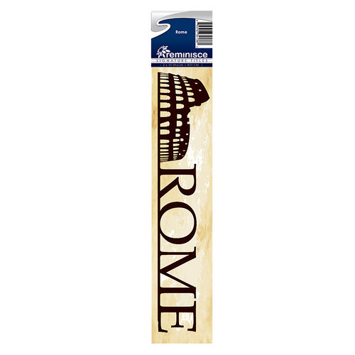 Reminisce - Cardstock Stickers - Signature Title - Rome
