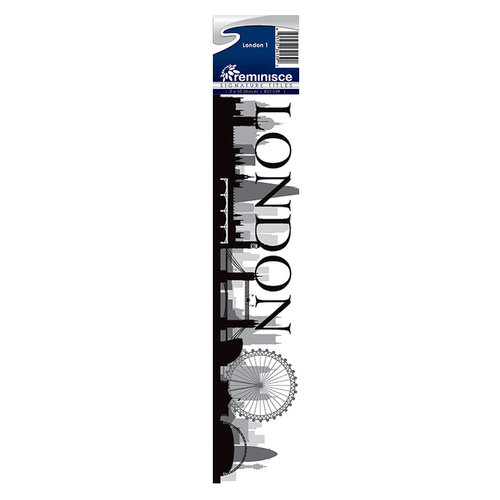 Reminisce - Cardstock Stickers - Signature Title - London 1