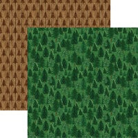 Reminisce - Rustic Christmas Collection - 12 x 12 Double Sided Paper - Rustic Pine