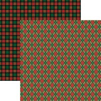 Reminisce - Rustic Christmas Collection - 12 x 12 Double Sided Paper - Rustic Plaid