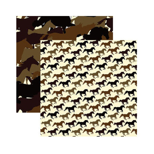 Reminisce - Saddle Up Collection - 12 x 12 Double Sided Paper - Horsin