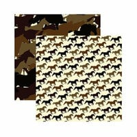 Reminisce - Saddle Up Collection - 12 x 12 Double Sided Paper - Horsin' Around