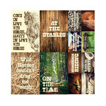 Reminisce - Saddle Up Collection - 12 x 12 Cardstock Stickers - Poster